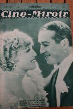 Magazine 1935 Jeanette MacDonald Maurice Chevalier Myrna Loy Jackie Cooper