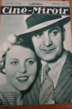 Magazine 1935 Ghislaine Bru Robert Montgomery Maureen O'Sullivan Gaby Morlay