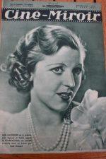 Magazine 1935 Meg Lemmonier Françoise Rosay Spencer Tracy Janet Gaynor