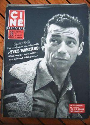1955 Yves Montand Liz Taylor Van Johnson Myriam Bru