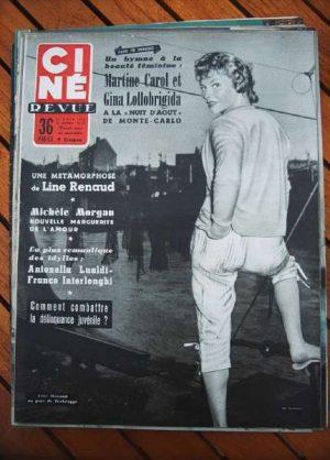 1955 Line Renaud Lollobrigida Carmen Miranda Liz Taylor