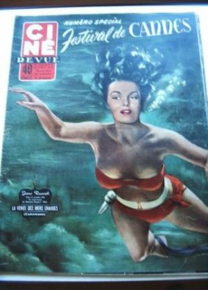 1955 Jane Russell Cannes Liz Taylor James Dean Borgnine