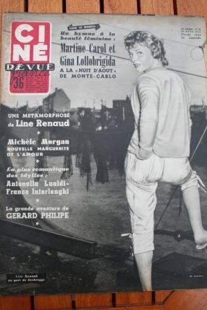 55 Line Renaud Lollobrigida Brigitte Bardot Liz Taylor