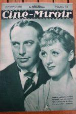 Magazine 1936 Danielle Darrieux Charles Vanel Sim Viva Sylvia Sidney Cary Grant