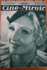 Magazine 1936 Mona Goya Jessie Matthews John Gilbert Jean Arthur