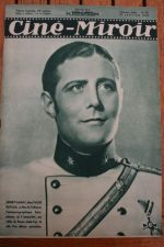 Magazine 1936 Henri Garat Sacha Guitry Greta Garbo Fredric March Françoise Rosay