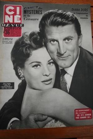 1955 Marilyn Monroe Kirk Douglas Bella Darvi Diana Dors