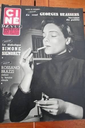 1955 Georges Brassens Rossano Brazzi Barbara Stanwyck