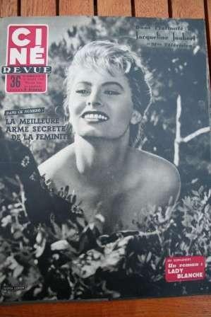 1955 Sophia Loren Tony Curtis Simone Simon Glenn Ford