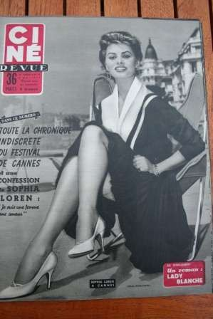 Sophia Loren Festival Cannes Susan Hayward Mitzi Gaynor