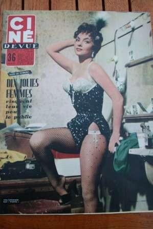1955 Gina Lollobrigida Marina Vlady Tony Curtis Ronet