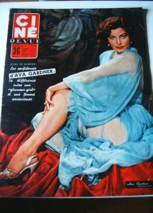 1956 Ava Gardner Audie Murphy Jan Sterling Fess Parker