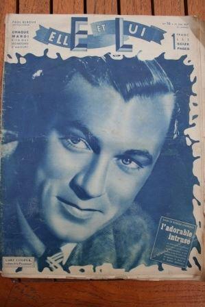 Magazine 1937 Gary Cooper Shirley Temple Annabella Jean Harlow William Powell