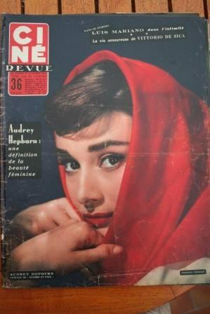 56 Audrey Hepburn Luis Mariano Frank Sinatra Kim Novak