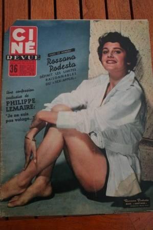 Rossana Podesta Marilyn Monroe Rock Hudson Claire Bloom
