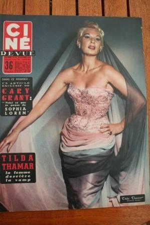 1956 Lauren Bacall Lana Turner Sophia Loren Cary Grant