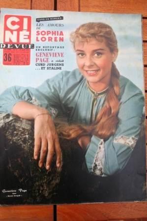 1956 Genevieve Page James Stewart Brigitte Bardot
