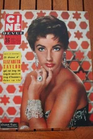 1956 Liz Taylor Elvis Presley Abbe Lane Esther Williams