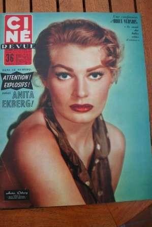 1956 Anita Ekberg Zizi Jeanmaire Yoko Tani Vera Miles