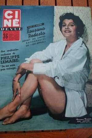 Rossana Podesta Sacha Guitry Sophia Loren Rock Hudson
