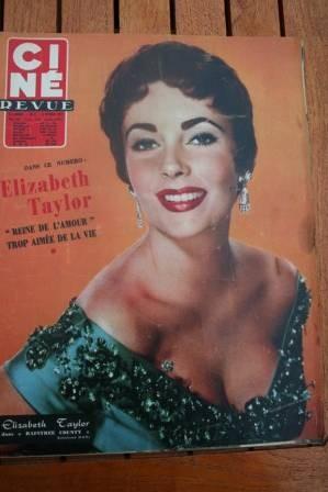 1957 Liz Taylor Lollobrigida Red Skelton Rita Hayworth