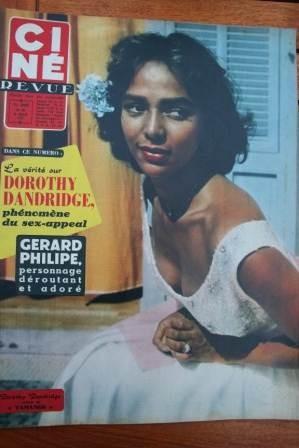 1957 Dorothy Dandridge Gerard Philipe Miss Universe
