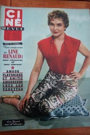 Line Renaud Dick Powell Tony Curtis Martha Hyer Bardot