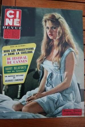 1957 Brigitte Bardot Harry Belafonte Festival Cannes
