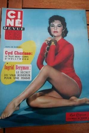 1957 Cyd Charisse Ingrid Bergman Dorothy Dandridge