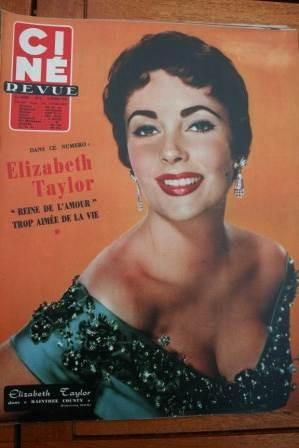 1957 Liz Taylor Cornel Wilde Rita Hayworth Rock Hudson