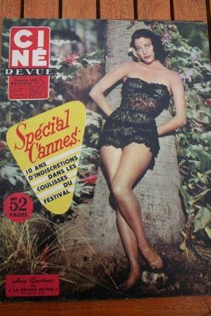 1957 Ava Gardner Romy Schneider Festival Cannes Presley