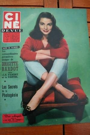 1958 Pier Angeli Danny Kaye Brigitte Bardot Mike Todd