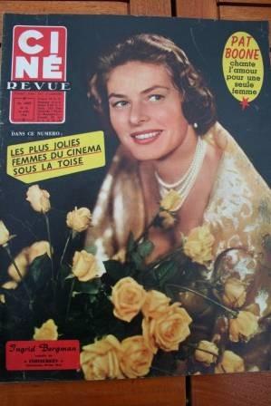 1958 Ingrid Bergman Pat Boone Lana Turner June Laverick