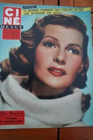 1958 Rita Hayworth Doris Day Natalie Wood John Wayne