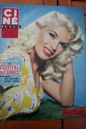 1958 Jayne Mansfield Anthony Franciosa Romy Schneider