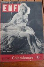 Magazine 1947 Adele Jergens Jules Berry Serge Reggiani Coincidences Suzanne Bara