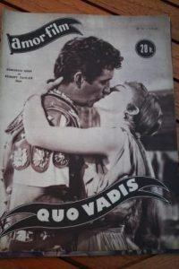 1953 Magazine Robert Taylor Deborah Kerr Quo Vadis