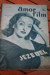 1953 Vintage Magazine Bette Davis Gary Merrill Jezebel