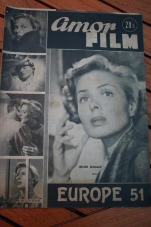 1953 Vintage Magazine Ingrid Bergman Europe 51