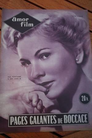 1954 Magazine Joan Fontaine Joan Collins Mara Lane
