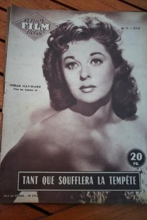 1955 Magazine Susan Hayward Tyrone Power Untamed