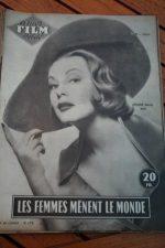 1955 Magazine Lauren Bacall Arlene Dahl June Allyson