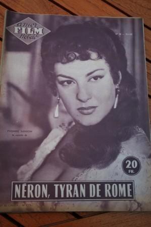1955 Magazine Gino Cervi Yvonne Sanson Odile Versois