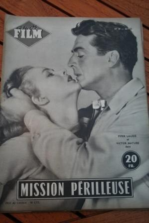 1955 Mag Piper Laurie Victor Mature Dangerous Mission
