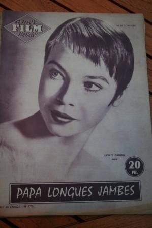 1955 Magazine Leslie Caron Fred Astaire Daddy Long Legs