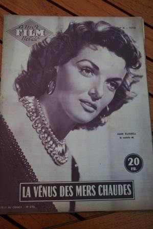 1955 Magazine Jane Russell Richard Egan Gilbert Roland