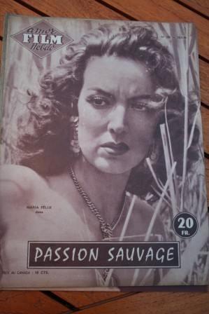 1956 Magazine Maria Felix Jorge Mistral Passion Sauvage