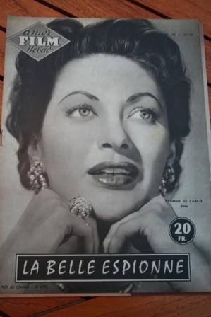 1956 Magazine Rock Hudson Yvonne De Carlo Sea Devils