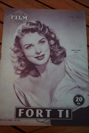 1956 Magazine Joan Vohs George Montgomery Arlene Dahl