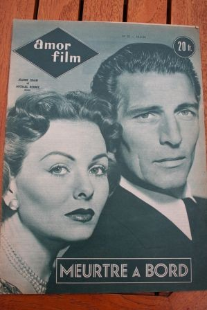 1954 Mag Marilyn Monroe Jeanne Crain Michael Rennie